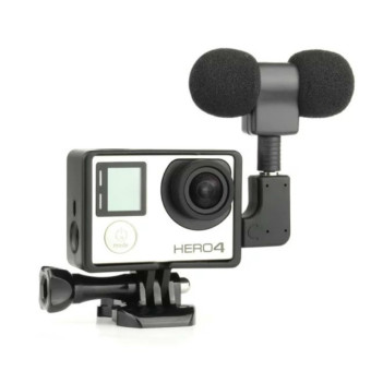 Housing Frame + Microphone Mic for GoPro Hero 3 3+ 4 - intl