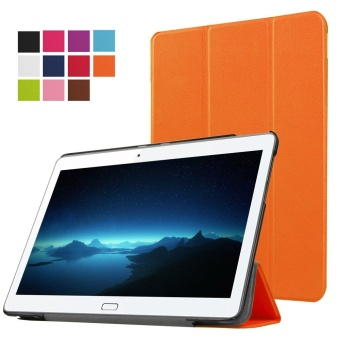 Huawei MediaPad M2 10 Case&,Huawei M2 10.1 Case - Ultra Slim Lightweight PU Leather Folio Case Stand Cover for Huawei MediaPad M2 10 inch Tablet (Orange) - intl