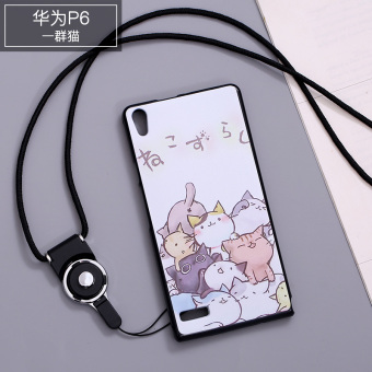 Huawei P9/P8/P7/P6 cute silicone whole package lanyard phone case protective case