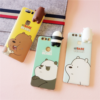 Huawei V8/P9/plusg9/5c bear painted soft case phone case