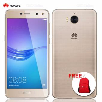 Huawei Y5 2017 2GB RAM 16GB ROM MediaTek Quad-core 4G LTE 3000mAh (Gold) w/ FREE Foldable Backpack (Red)