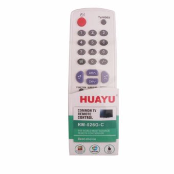 Huayu RM-026G-C Universal TV Remote Control for Sharp Brand(White/Violet) #0123