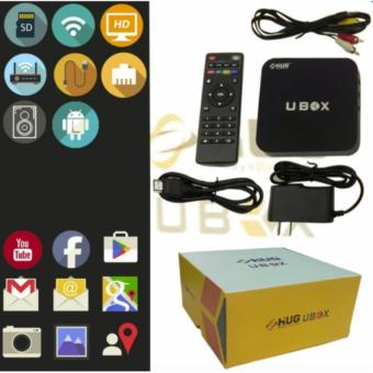 HUG Android Media Player 4K HD TV Box WiFi LAN Quad Core Adroid Lollipop Smart Streaming (UBOX)