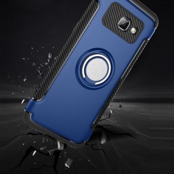 Hybrid Armor Case For Samsung Galaxy J5 Prime / On5 (2016)Anti-slip Carbon Fiber TPU + PC Back Cover with Ring Grip/StandHolder Blue (Blue) (Blue) - 2