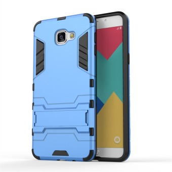 Hybrid Combo Rugged Case for Samsung Galaxy A9 Pro (2016) (Blue) - 2