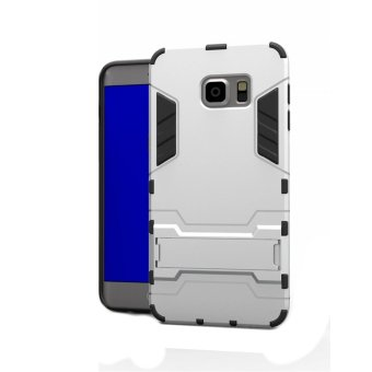 Hybrid Defender Case for Samsung Galaxy S6 Edge (Silver)