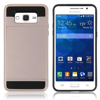 Hybrid Dual Layer Shockproof Bumper Wallet Case Cover with CardHolder for Samsung Galaxy J2 Prime - intl - 5