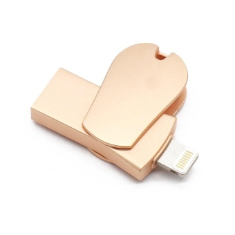 i-Flash drive 128GB OTG Usb flash drive 3 in 1 pendrive for appleiphone 6s 7plus Memory stisk(Rose Gold) - intl