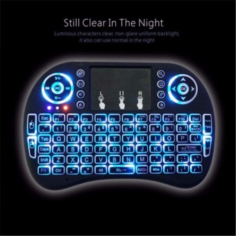 I8 2.4GHz 3-color Backlight Wireless Mini Keyboard with Touchpad