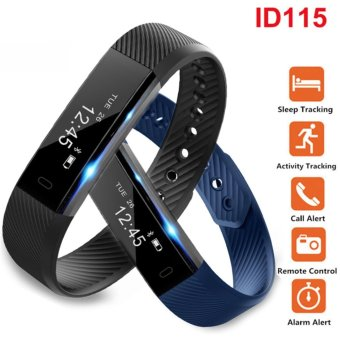ID115 Smart Wristband Fitness Tracker Pedometer Sleep Monitor Bracelet Call Calories Smart Band Watch For iOS Android PK Mi 2 - intl