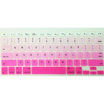 IDEAL1 Rainbow Keyboard Protector For Apple Mac-book 13.3 Inchs Air/ Pro / Retina (Pink)-(Intl) with Free Mobile Silicone Phone Case(color may vary)