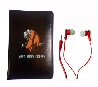 Faux Leather Tab/Ipad Cover Pouch for Apple iPad Pro 9.7inch(Drinking Coffee Design) with Free Stereo Earphone/Headset (Red) Price Philippines