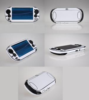 Harga White Carbon Fiber Skin Sticker Case For PS Vita PSV 1000 Console Vinyl - intl