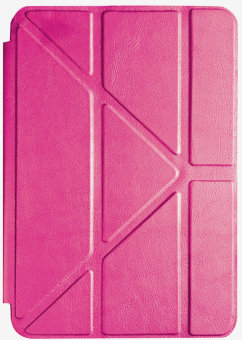 Apple ipad pro Transformers ipad Pro 12.9 multi folded leather back shell thin protective sleeve dormancy (Pink) Price Philippines