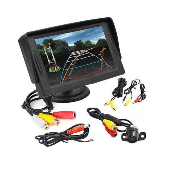 Pinoy Puff 4.3'' LCD Car Rear View Monitor with Night Vision Reverse Backup Camera Waterproof kit Price Philippines