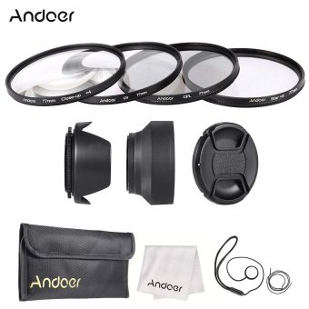 Andoer 77mm Lens Filter Kit (UV + CPL + Star+8 + Close-up+4 ) with Lens Cap + Lens Cap Holder + Tulip & Rubber Lens Hoods + Cleaning Cloth Price Philippines