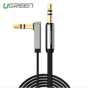 Ugreen 3.5mm audio cable 90 degree right angle flat jack 3.5 mm aux cable for car iPhone MP3/4 headphone beats speaker aux cord - intl Price Philippines