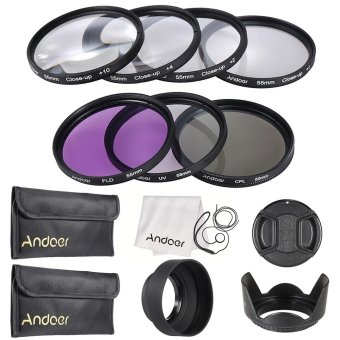 Andoer 55mm UV + CPL + FLD + Close-up(+1+2+4+10) Lens Filter Kit - INTL Price Philippines