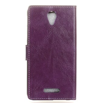 Harga Fashion PU Leather Wallet Cover Sleeve Case For Alcatel One Touch POP 4 Plus / Allura 5056 - intl