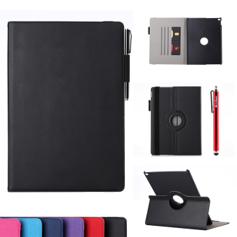Case for Apple iPad Pro 12.9 inch 360 Degrees Rotation PU Leather Flip Stand Case - Black Price Philippines