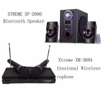 Xtreme XP-2500 2.1-Channel Sub Woofer Bluetooth Speaker Black Xtreme XM-368A Professional Wireless Microphone Price Philippines
