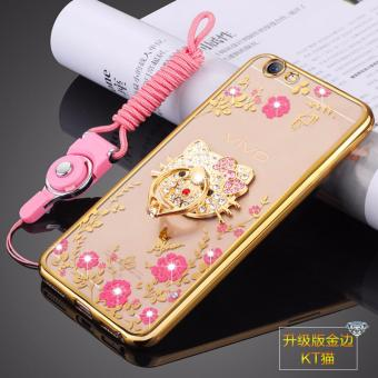 Harga Secret Garden TPU Back Case Cover For VIVO Y67  Vivo V5(KT Cat gold) - intl