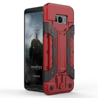 Harga for Samsung Galaxy S8+ & S8 Plus [X-Armour] Kickstand Holder + Card Storage Slot Armor Cell Phone Case PC & TPU Hybrid Back Cover - intl