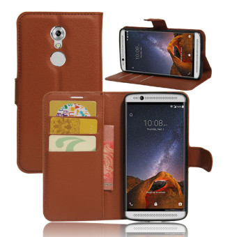 Harga BYT Leather Flip Cover Case for ZTE Axon7 mini (Brown)