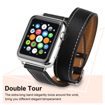 Harga Excelvan AMS-02 Bracelet Strap Watch Band for Apple Watch 42mm(Black) - Intl