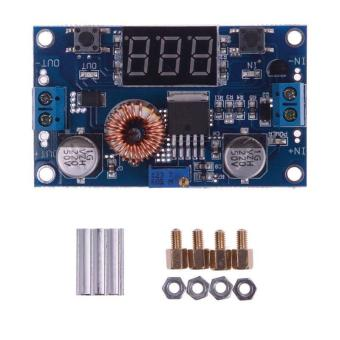 Harga BUYINCOINS 5A 75W DC to DC Adjustable Step-down Converter Module with Digital Voltmeter