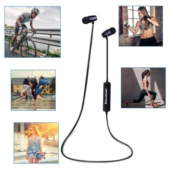 Harga Excelvan O1 Wireless Sports Headphone Bluetooth Hifi Music Stereo Headset - intl