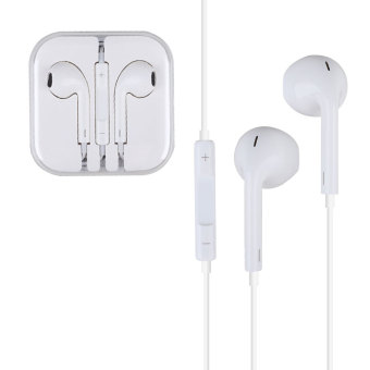 Earphone Headphone 3.5mm Headset W/Mic for Apple iPhone/iPod/iPad/iPod Touch (White) Price Philippines