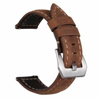 Harga Samsung Gear S3 S2 Premium Leather Watchband Bracelet Strap for Samsung Gear S3 S2 (Brown)