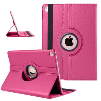 "PU Leather 360 Rotating Case Stand Cover for Apple iPad Pro 9.7"" (Rose Red) Price Philippines"