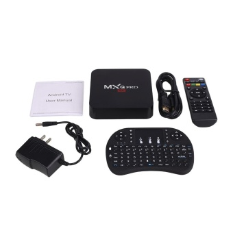 Harga MXQ Pro 4K Android 5.1 Smart TV Box Quad Core 1G 8G Kodi With Air Mouse Keyboard - intl