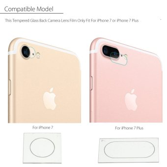 [for iPhone 7 plus] 9H Tempered Glass Back Rear Camera Lens Cover Film Protector For iPhone 7/7 Plus - intl Price Philippines