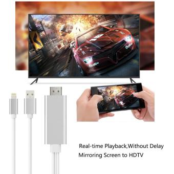 MHL to HDMI 1080P Lightning to HDMI Converter HD TV Cable Adapter Plug and Play No need Wifi Real-Time Playback For iPhone 5 5S 6 6S Plus 7 Plus IPad - intl Price Philippines