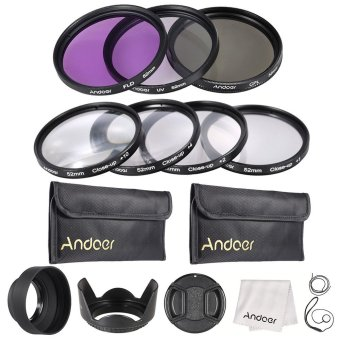 Andoer 52mm UV + CPL + FLD + Close-up(+1+2+4+10) Lens Filter Kit - INTL Price Philippines