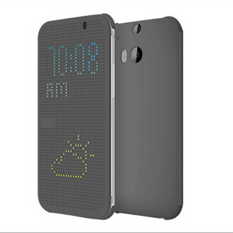 Harga Fang Fang Ultra Slim Dot View Flip Smart Case Cover for HTC One 2M8 (Grey)