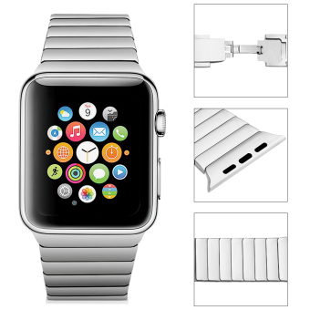 Harga Excelvan Watch Band Replacement Stainless Steel for 38mm Apple Watch (Silver)