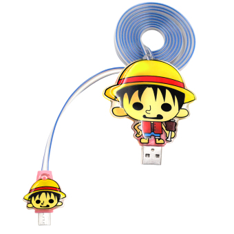 ANIME ZONE Cute Chibi Monkey D. Luffy One Piece Anime Glowing 38-inch Mirco USB 3.0 Data Cable Price Philippines