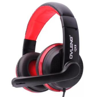 OVLENG Q13 Comfortable Fit Headphone with mic for Smartphones Mp3 player (Black/Red) Price Philippines