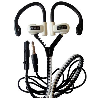 Stereo Zipper Earphone with Mic for Acer Phone Models (white) Price Philippines