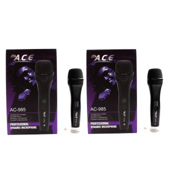 Harga Ace AC-985 Professional Uni-directional Dynamic Legendary Vocal Wired Microphone Set of 2 (Black)