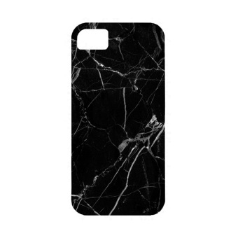Harga PlanetCases Black Marble Hard Case for iPhone 6/6s (Black)