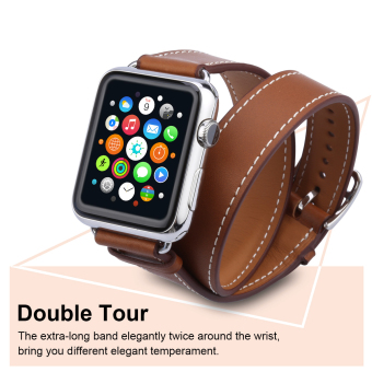 Harga Excelvan AMS-02 Bracelet Strap Watch Band for Apple Watch 42mm(Brown) - Intl