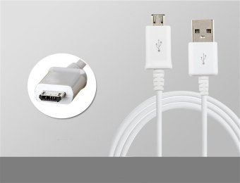Harga Samsung 2A 1M Micro USB Charger Charging Sync Data Cable For Samsung S6/S6 DEGE/S6 EDGE+/S7 (White)