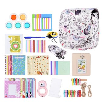 Andoer 14 in 1 Accessories Kit for Fujifilm Instax Mini 8/8+/8s w/ Camera Case/Strap/Sticker/Selfie Lens/5*Colored Filter/Album/3 Kinds Film Table Frame/10*Wall Hanging Frame/40*Border Sticker/2*Corner Sticker/Pen Outdoorfree - intl Price Philippines