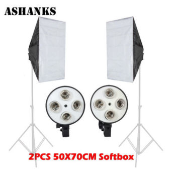 2PCS 50CMx70CM 4 Lamp Holder Softbox+ for E27 Lamps Studio Photography Light Price Philippines