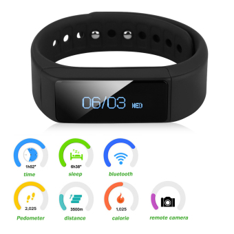 Harga Excelvan I5 Plus OLED Smart Bracelet Waterproof Bluetooth for Android IOS(Black) - intl